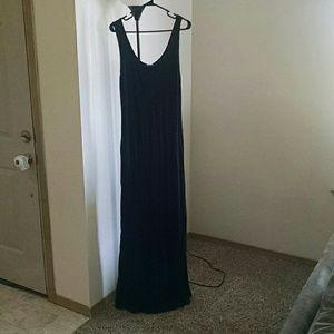 Large, floor length maxi dress.